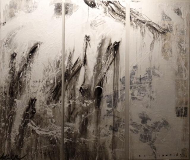 Ashley Collins, 'e.e. Cummings', 2014-2015, Mixed Media, Oil and acrylic on aged paper panel, Melissa Morgan Fine Art