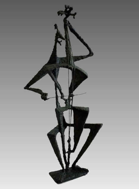 , 'Cellist,' 1950s, AbExArt