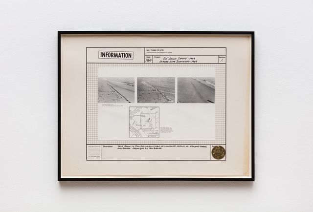 Iain Baxter&, '50' Sand Shift - 1969, 10 Acre Site Surveyed - 1969', 1969, Hales Gallery