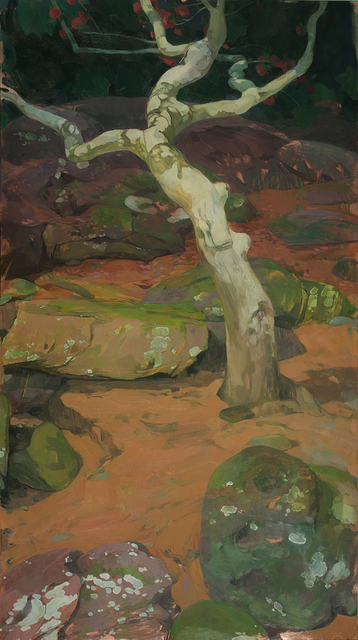, 'Camellia Tree in Rocky Landscape ,' 2018, LeMieux Galleries