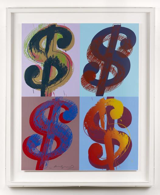 Andy Warhol, '$ (Quadrant)', 1982, DELAHUNTY