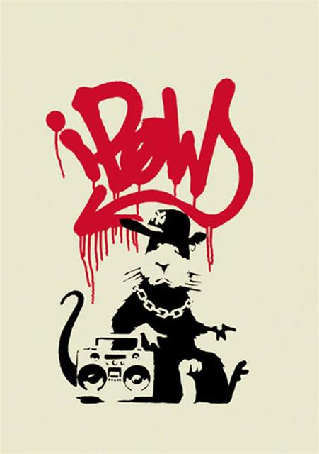 Banksy, 'Gangsta Rat - Unsigned', 2004, Hang-Up Gallery
