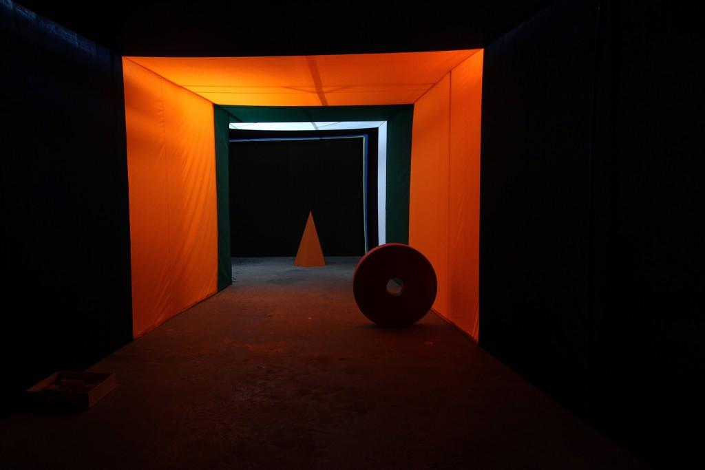 """""""Sink Down Mountain, Rise Up Valley"""", Ulla von Brandenburg - installation view at Performa, NY"""