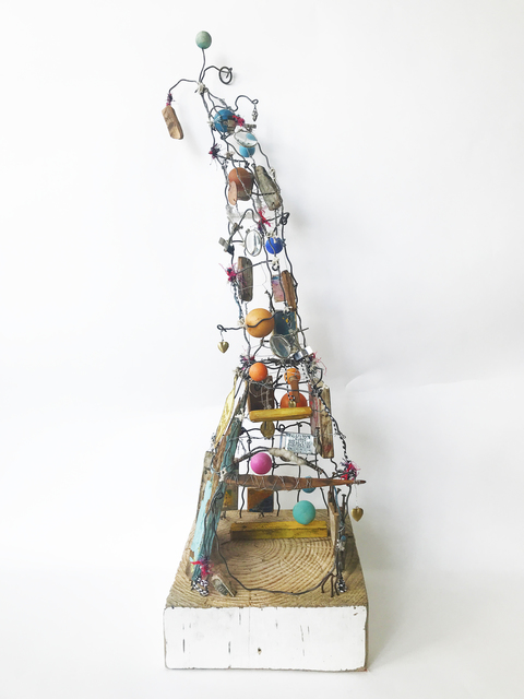 Robin Howard, 'Shelter II', 2020, Sculpture, Encaustic, wire, wood, oil crayon, glass, fiber, found objects, Miller Gallery Charleston