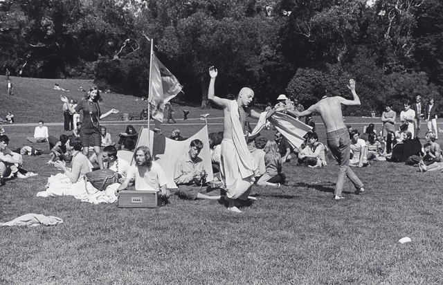 , 'Hare Krishna Dance in Golden Gate Park, Haight Ashbury,' 1967, de Young Museum