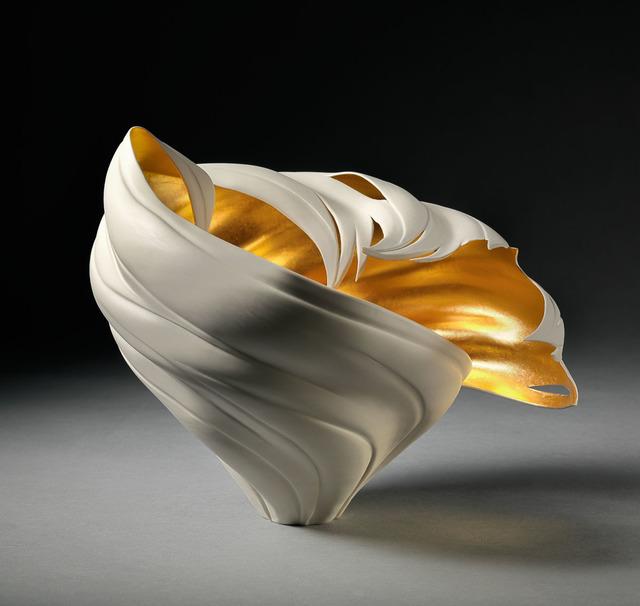 , 'Gilded Tsunami Vessel,' 2018, Steidel Contemporary