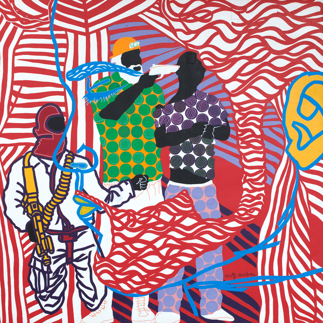 Boris Nzebo, 'Les Marabouts 02', 2018, Jack Bell Gallery