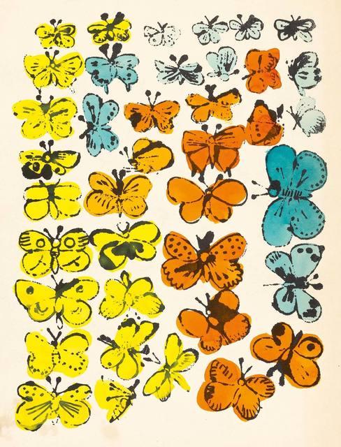 Andy Warhol, 'Happy Butterfly Day; Merry Christmas', 1955, Print, Two offset lithographs (the first hand-colored) on cream and wove papers, respectively, Doyle