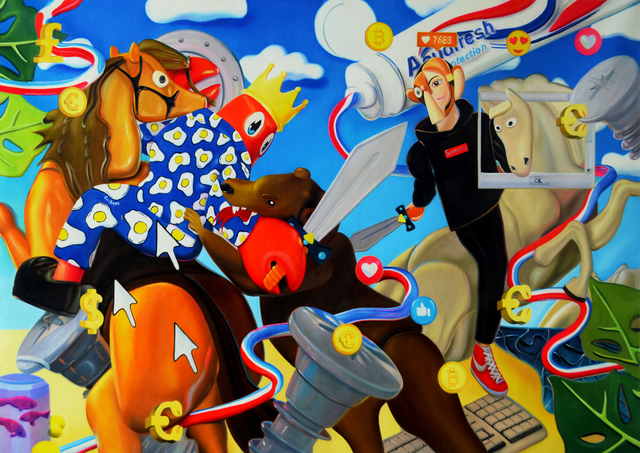 , 'Bear Hunt (Study),' 2019, Whitestone Gallery