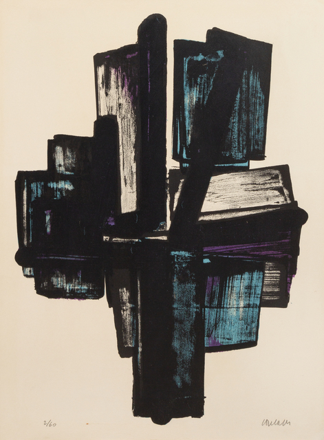 Pierre Soulages, 'Lithographie n° 4', 1957, Hindman