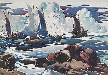 Untitled (Rocks & Boats)