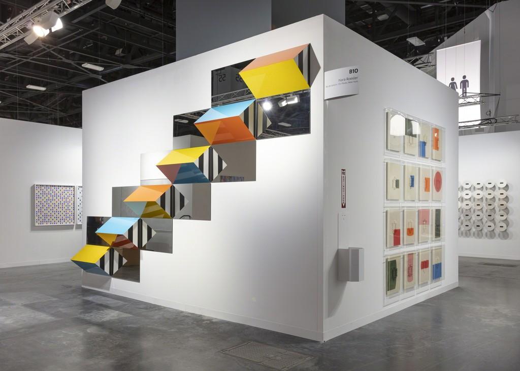 galeria nara roesler stand at Art Basel Miami Beach, 2018 -- exhibition view -- photo © Silvia Ros -- courtesy of the artists and Galeria Nara Roesler