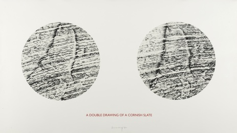 Richard Long, 'A Double Drawing of Cornish Slate (Vermeulen, Kolodziej, Monig 37),' 1995, Forum Auctions: Editions and Works on Paper (March 2017)