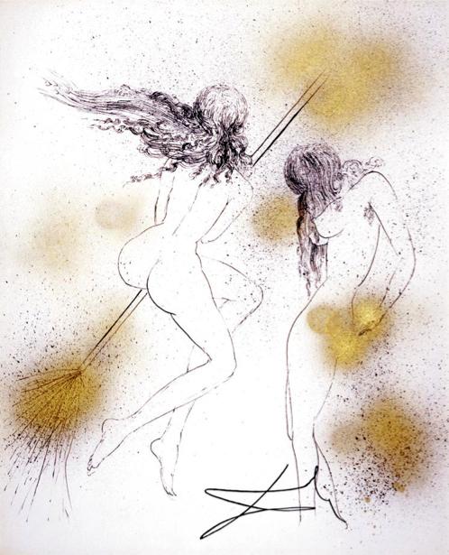 Salvador Dalí, 'Sorcieres au Balais (Witches with Broom)', 1968, Print, Puccio Fine Art