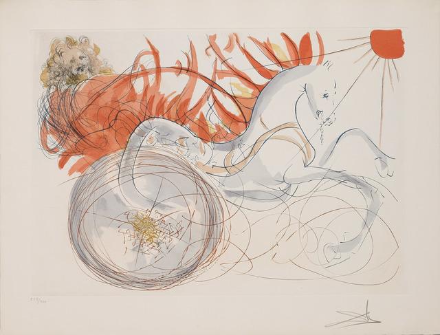Salvador Dalí, 'Elijah (Elijah and the chariot) (Our Historical Heritage, Plate J)', 1975, Martin Lawrence Galleries
