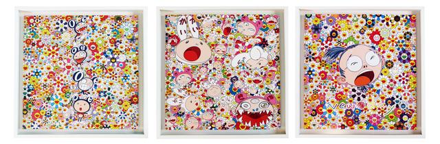 Takashi Murakami, 'New Day (framed set of 3)', 2011, EHC Fine Art Gallery Auction
