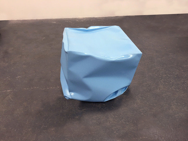 Alyson Shotz, 'Crushed Cube (blue)', 2018, Carolina Nitsch Contemporary Art