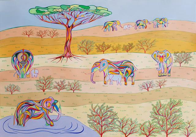 , 'L'arbre aux éléphants,' 2018, galerie bruno massa