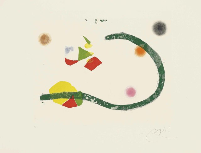 Joan Miró, 'Plate 30 from: Càntic del Sol', 1975, Christie's
