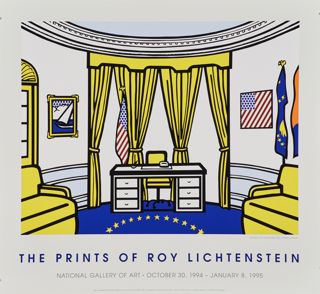 Roy Lichtenstein, 'The Oval Office (National Gallery of Art)', 1992, Print, Screenprint in colors (issued in 1994), Rago/Wright