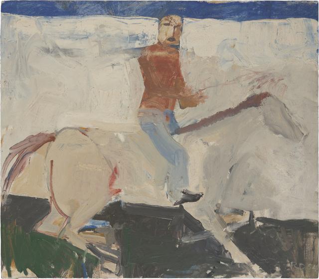 , 'Untitled (Horse and Rider),' 1954, Richard Diebenkorn Foundation