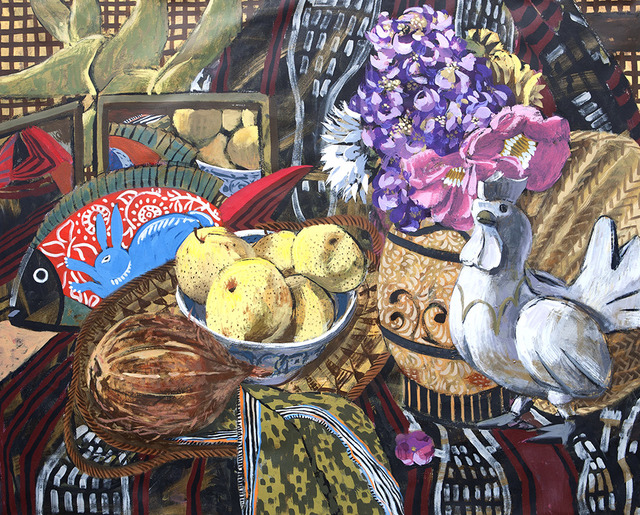 , 'Still-life with Rooster, Asian Pears, and Fish,' 2017, 856G