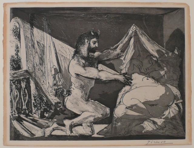 Pablo Picasso, 'Faune dévoilant une Dormeuse (Jupiter et Antiope, d'après Rembrandt) (S.V. 27)', 1936, John Szoke