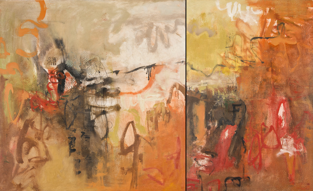 , 'Cliff Hanging, On Purpose, Diptych,' 2015, Seager Gray Gallery