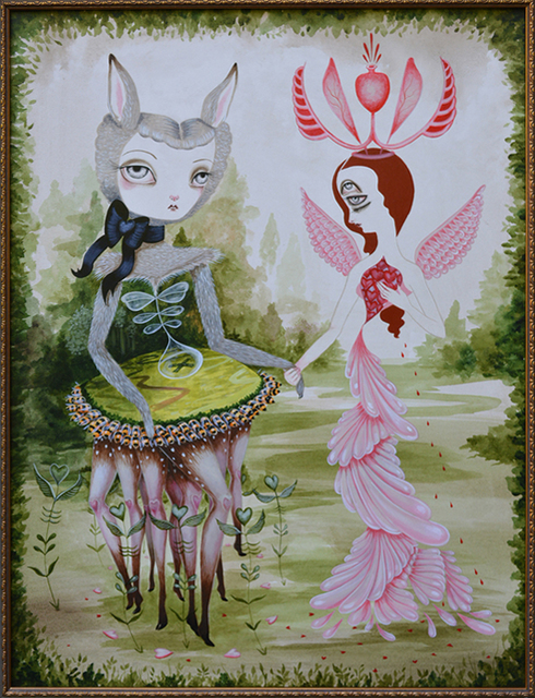 , 'The Mysterious Meeting of the Flesh and Fauna Girls,' 2013, AFA Gallery