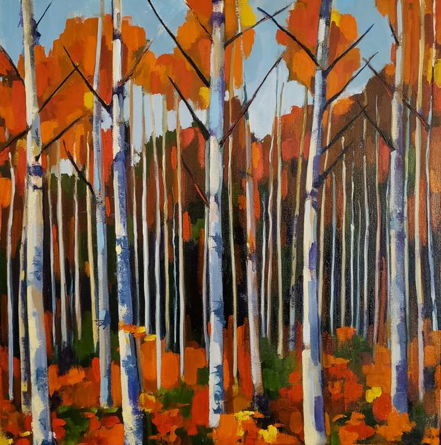Jenn Hallgren, 'Birch Forest 1', 2019, Painting, Oil on canvas, InLiquid