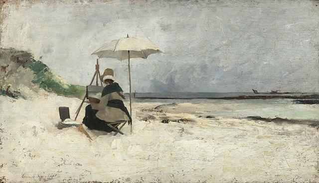 , 'Beach Parasol, Brittany (Portrait of Amanda Sidwall),' 1880, American Federation of Arts
