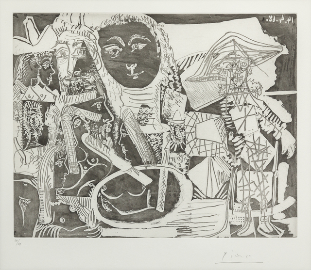 Pablo Picasso, 'Arlequin et Personnages Divers, from 347 Series', 1968, Hindman