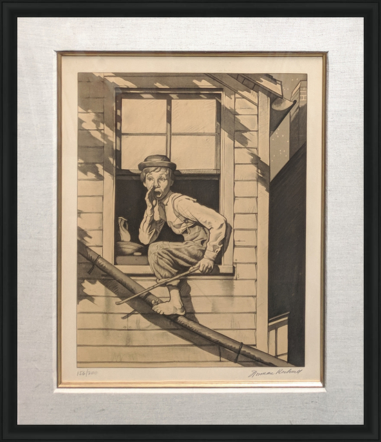Norman Rockwell, 'OUT THE WINDOW (SEPIA)', 1976, Gallery Art