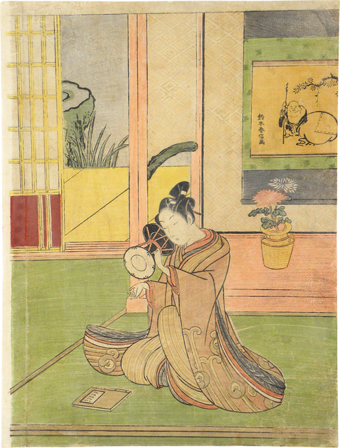, 'Young Man Playing a Ko-Tsuzumi,' , Scholten Japanese Art