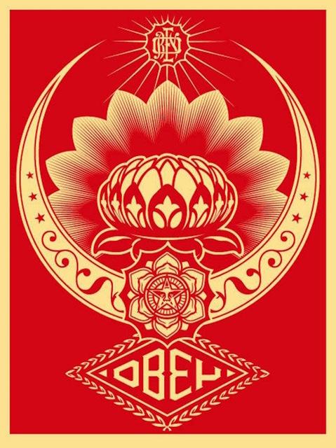 Shepard Fairey (OBEY), 'Lotus Ornament Red ', 2008, Gregg Shienbaum Fine Art