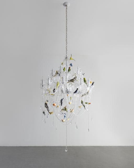 "Sebastian Errazuriz, '""Bird Chandelier."" Crystal chandelier with taxidermy birds', 2018, R & Company"