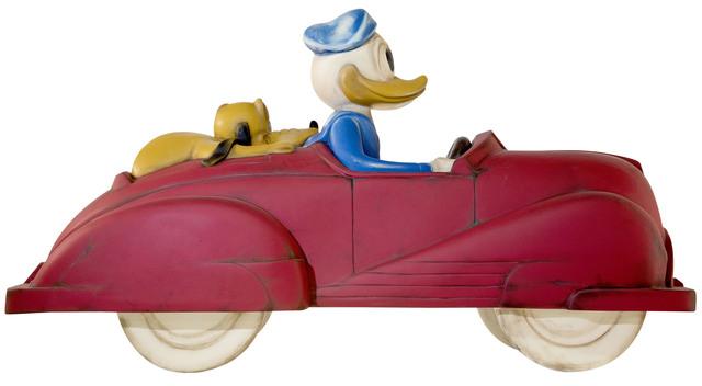 Mr. Brainwash, 'Driving Duck', 2021, Sculpture, Hand Painted Fiberglass Sculpture in Plexiglass Box, Contessa Gallery