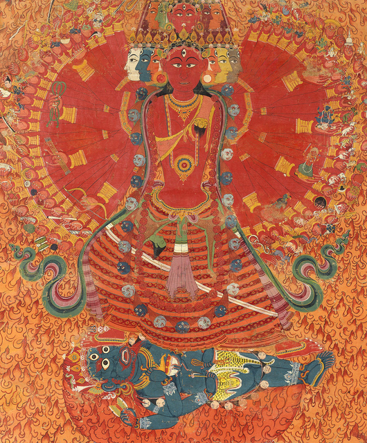, 'The Cosmic Goddess Bhavani,' mid 19th century, Prahlad Bubbar