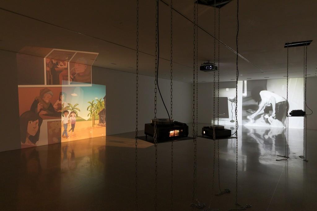 Exhibition view Loretta Fahrenholz. Small Habit Revolution Photo: Lisa Rastl © mumok