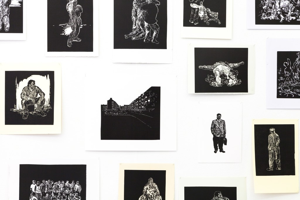 exhibition #4: Stijn Peeters (Eindhoven), Lino Cuts (2003-05), detail