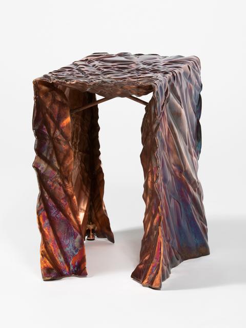 Christopher Prinz, 'Wrinkled Stool ', 2017, Design/Decorative Art, Steel, copper, Patrick Parrish Gallery