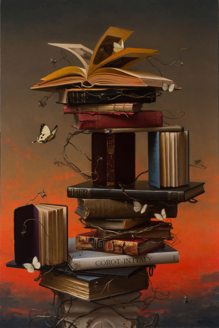 , 'Books and Butterflies, 4,' 2017, ARCADIA CONTEMPORARY