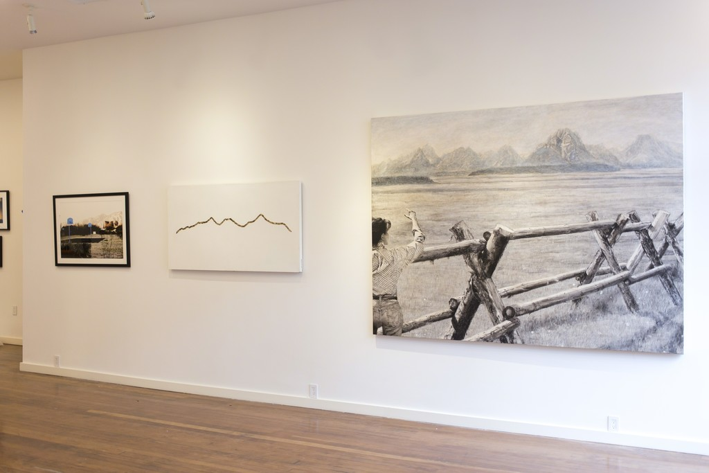 "Left to Right: ""Bajada Hoop Dreams"" by Christopher Upham, ""Nahoonkara Skybed"" by Marshall Elliott, ""The Land (On Measures and Weights)"" by Isabelle Sorrell"