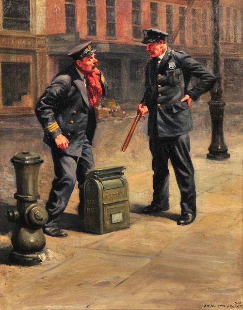 Anton Otto Fischer, 'Urban Street Illustration', 1938, Painting, Oil on Canvas, The Illustrated Gallery