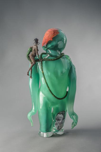 Joyce J. Scott, 'Buddha (Earth)', 2013, Sculpture, Hand-blown Murano glass processes with beads, wire, thread, Goya Contemporary/Goya-Girl Press