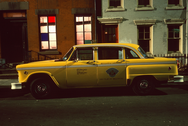 , 'Hellofa Cab, Checker Marathon Yellow Cab, West Village,' 1975, Jackson Fine Art