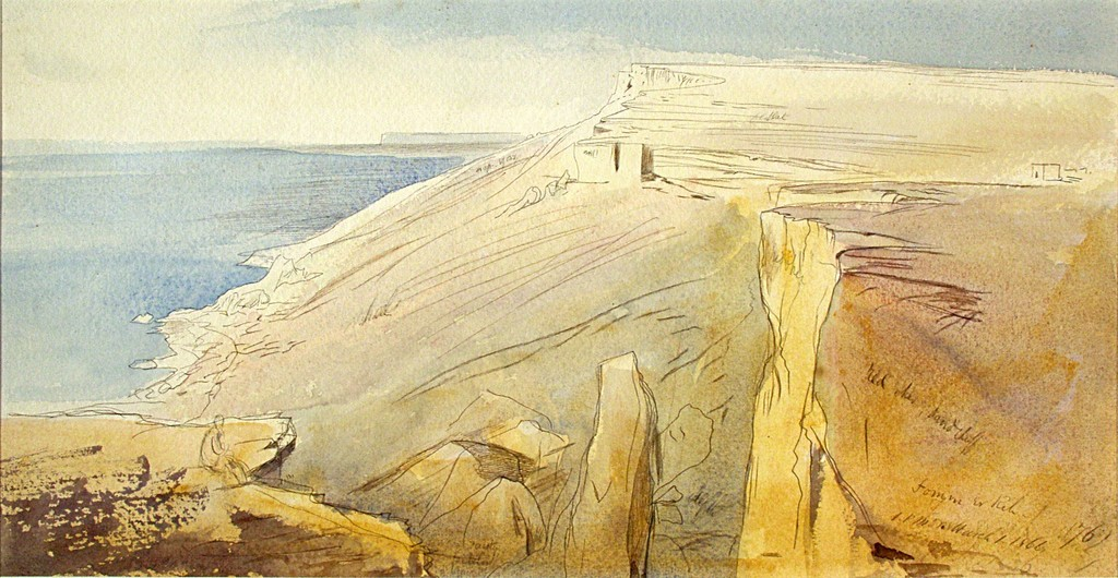 Maltese Landscape: 'Fomm ir-Riħ' 1866 Edward Lear (1812-1888) Palazzo Falson Historic House Museum © Palazzo Falson