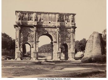 Arch of Constantine, Rome, Italy, and View of Roman Forum, Rome, Italy (Two works)