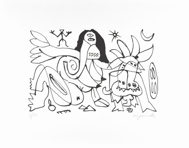 A.R. Penck, 'Ariadne - Minotaurus', 1990-2000, ARTEDIO