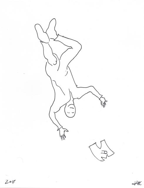 , 'Performance pour un astronaute, une paire de ciseaux et deux feuilles de papier #6,' 2017, Galerie Charlot